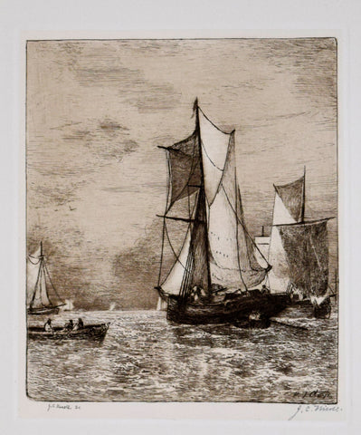 Paul Jean Clays (1819 - 1900), after, Engraved by Jean Paul Nicoll (1847-1918), On the Thames