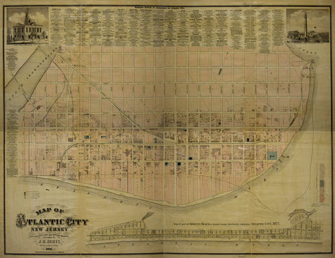 J.D. Scott, Map of Atlantic City, New Jersey