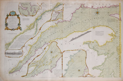 Thomas Jeffereys (c. 1710-1771),  An Exact Chart of the River St. Laurence..River to Quebec