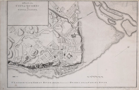 Thomas Jefferys (1719-1771), A Plan of the City of Quebec, the Capital of Canada