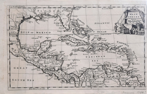 Thomas Jefferys (1719-1771), West Indies (showing Florida)