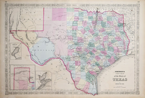 A.J. Johnson, New Map of the State of Texas