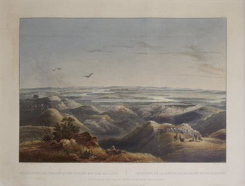 Karl Bodmer (1809-1893), Junction of the Yellow Stone River with the Missouri