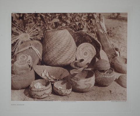 Edward S. Curtis (1868-1953), Karok Baskets Pl 438