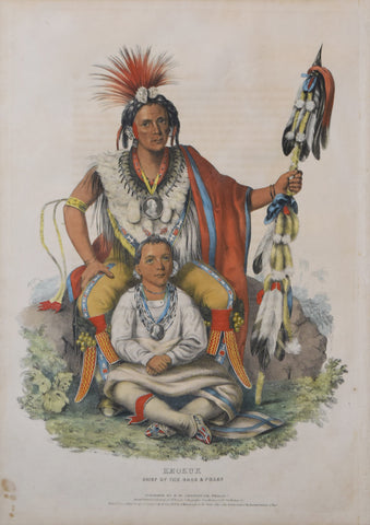 Thomas McKenney (1785-1859) & James Hall (1793-1868), Keokuk Chief of the Sacs and Foxes