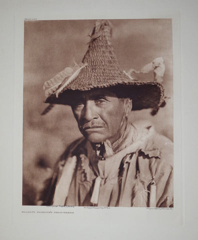 Edward S. Curtis (1868-1953), Klamath Warrior Pl 449