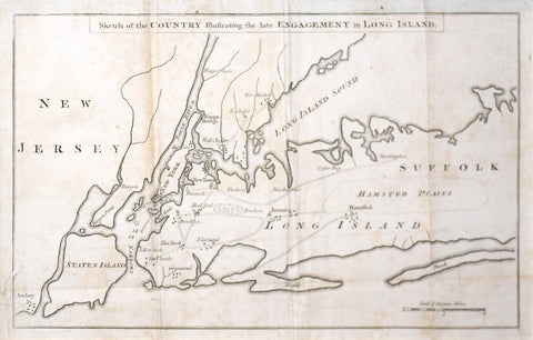 The Gentleman's Magazine Sketch of the Country Illustrating the Late Engagement in Long Island