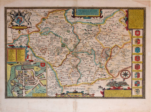 John Speed (1552-1629), Leicester both Countye and Citie…