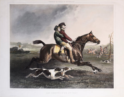 Alfred de Dreux (1810-1860), after, Les Debuts D'un Jockey