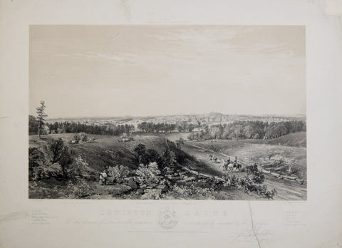 J. B. Bachelder, Lewiston Maine, from the Residence of Isaac Haskell (Prospect Hill)