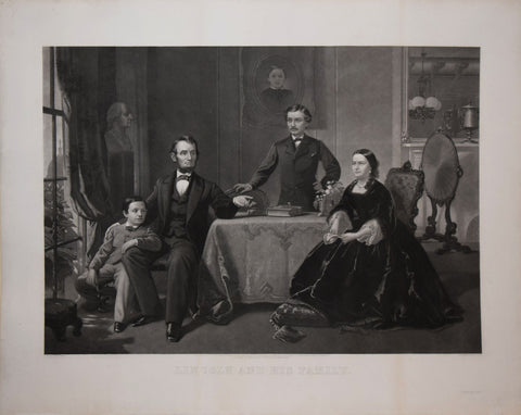 William Sartain (1843-1924) , After S.B. Waugh, Lincoln and his Family