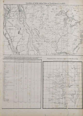 Thomas L. McKenney (1785-1859) and James Hall (1793-1868),  Localities of all the Indian Tribes of North America in 1833 & Present Localities of the Indian Tribes West of the Mississipi