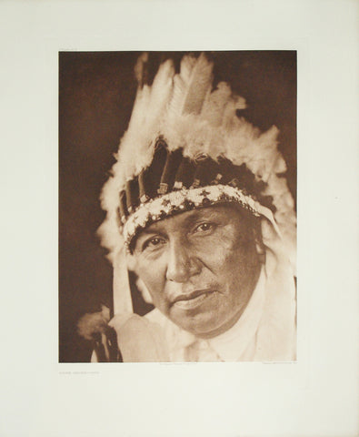 Edward S. Curtis  (1868-1952), Lone Chief Oto, Pl. 676