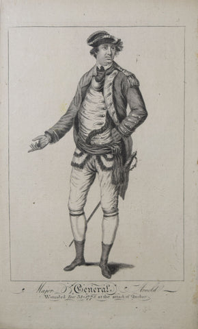 [Unknown], Major General Arnold Wounded Dec. 31-1775 at the attack of Quebec.