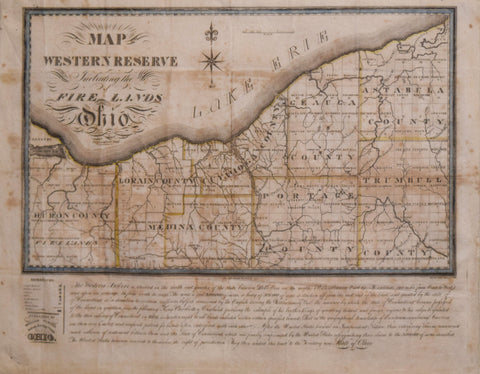Allen Taylor, Map of the Western Reserve Including the Fire Lands in Ohio