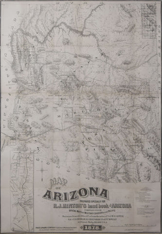 Richard Josiah Hinton (1830-1901),  Map of Arizona