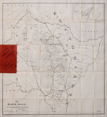 Samuel Scott Map Of Black Hills Of South Dakota And Wyoming - Map of south dakota