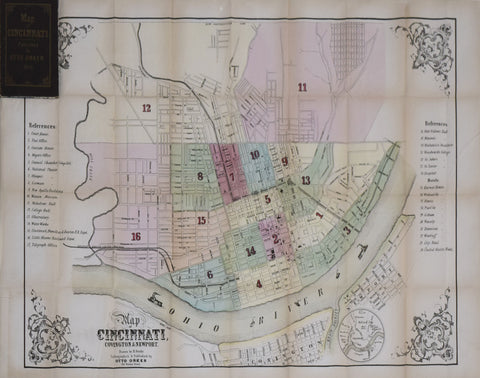 B. Oertly (Draftsman), Map of Cincinnati, Covington, and Newport