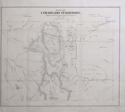 Francis M. Case,  Map of Colorado Territory, Compiled from Government Maps & actual Surveys made in 1861