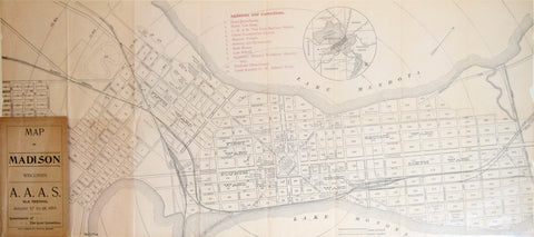 Tracy, Gibbs & Co., Map of Madison Wisconsin…