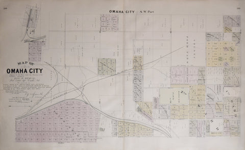 Everts and Kirk, Map of Omaha City