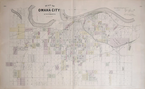 Everts and Kirk, Map of Omaha City & Environs