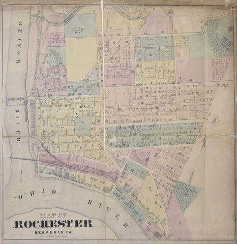 Joseph A. Caldwell, Map of Rochester, Beaver Co. PA.