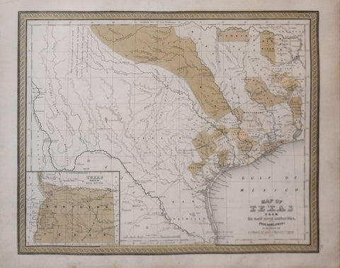 Samuel Augustus Mitchell (1792-1868), Map of Texas from the most Recent Authorities
