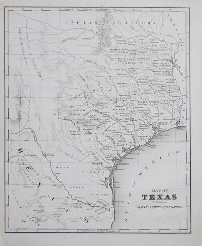 Jesse Olney (1798-1872), A Map of Texas to Illustrate Olney's School Geography