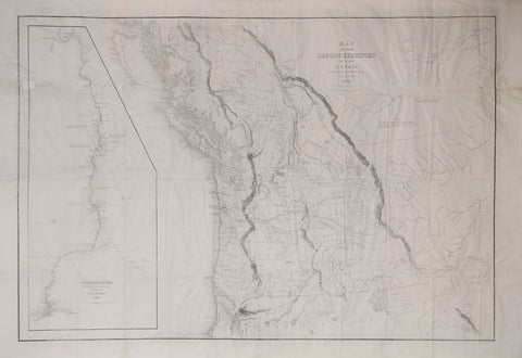 Charles Wilkes (1798-1877), Map of the Oregon Territory.. & Columbia River by Charles