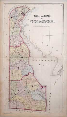 D. G. Beers, Map of the State of Delaware
