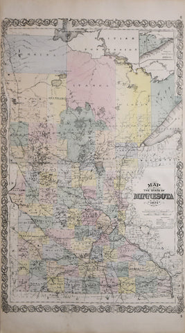 Alfred Theodore Andreas (1839-1900), Map of the State of Minnesota, 1874