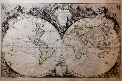 Gilles Robert de Vaugondy (1686-1766) & Didier Robert de Vaugondy (1723-1786), Mappe Monde ou Description de Globe Terrestre…