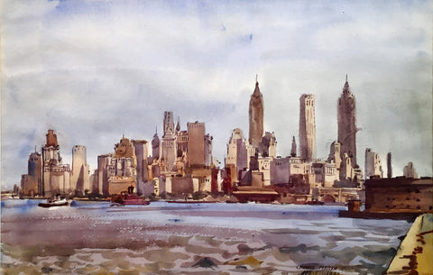 Reginald Marsh (1898-1954) New York Skyline