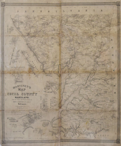 Simon J. Martenet  Martenet's Map of Cecil County Maryland…