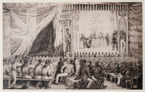 Alexander D.M. McArthur, Theatrical Entertainment Aboard the HMS Chesapeake, at Aden 1859