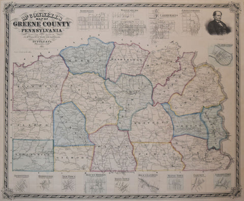 L. McConnell, McConnell's Map of Greene County Pennsylvania…