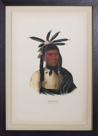 Thomas L. McKenney (1785-1859) & James Hall (1793-1868), Amiskquew, A Menominie Warrior
