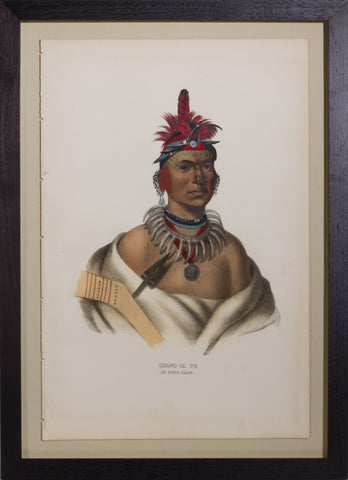Thomas L. McKenney (1785-1859) & James Hall (1793-1868), Chono Ca Pe, An Ottoe Chief