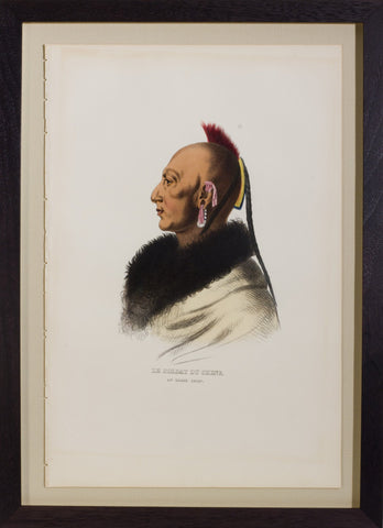 Thomas L. McKenney (1785-1859) & James Hall (1793-1868), Le Soldat du Chene, An Osage Chief