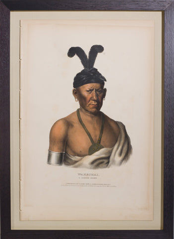 Thomas L. McKenney (1785-1859) & James Hall (1793-1868), Wakechai, A Saukie Chief