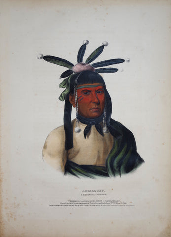 Thomas McKenney (1785-1859) & James Hall (1793-1868), Menominie Warrior, Amiskquew