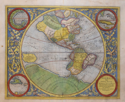 Michael Mercator (Ca. 1567-1600), After Gerhard Mercator (1512-1594),  America Sive India Nova…