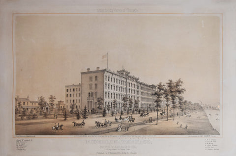 Edwin Whitfield (1816-1892), Michigan Terrace, Michigan Ave. Looking towards the Central Depot.