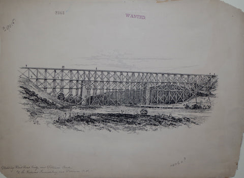 Edwin J. Meeker (1853-1929), Military Railroad Bridge Over Potomac Creek