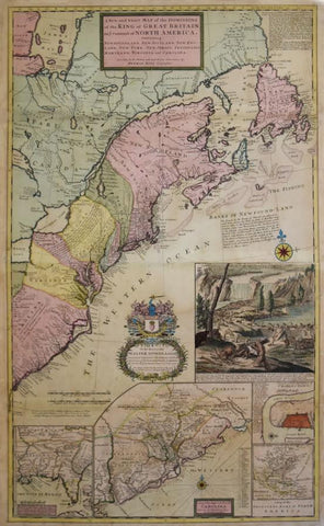 Herman Moll (1654-1732), A New and exact Map of the Dominions of the King of Great Britain on ye Continent of North America...