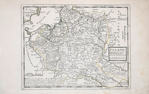 Herman Moll (1654-1732), Poland. Subdivided into its several palatinates &c. Agreeable to Modern History