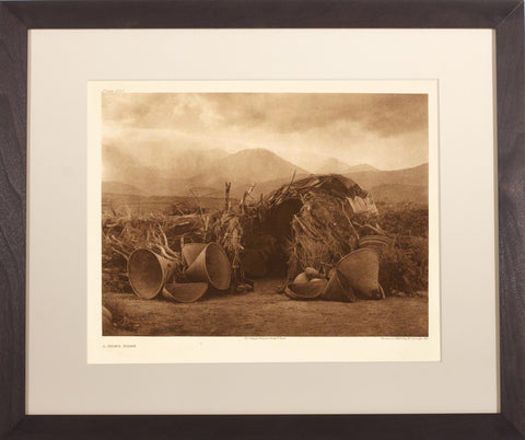 Edward Curtis (1868-1952), Pl 533 Mono Home
