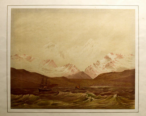 John Gully (1819-1888), Mount Cook and Mount Tasman from the West