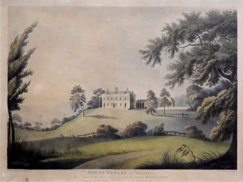 Alexander Robertson  (1772-1841) , Mount Vernon in Virginia. The seat of the late Lieut. General George Washington commander in chief of the Armies of the United States